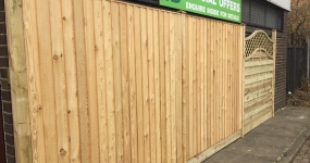 Image for Siberian Larch Featheredge Fence Panels