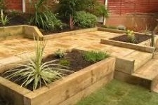 Image for Green Treated Sleepers - finished size 95mm x 195mm